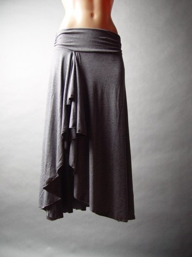 Charcoal Gray Cascade Asymmetric Ruffle Banded Waist Tulip Size L NWT | eBay Charcoal Gray Cascade Asymmetric Ruffle Banded Waist Tulip - Size L - NWT! in Clothing, Shoes & Accessories, Women's Clothing, Skirts | eBay Charcoal Gray Cascade Asymmetric Ruffle Banded Waist Tulip - Size L - NWT!, Clothing, Shoes & Accessories, Women's Clothing, Skirts