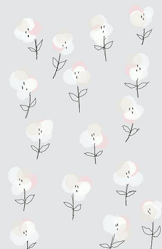 little white hand drawn flowers
