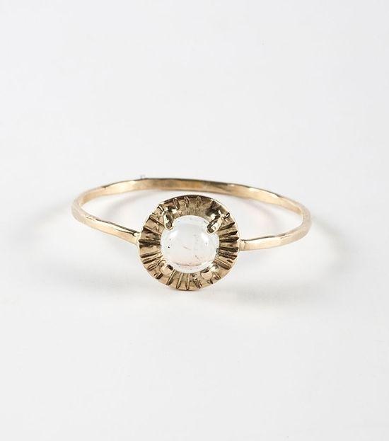Alba Etruscan Moonstone Ring