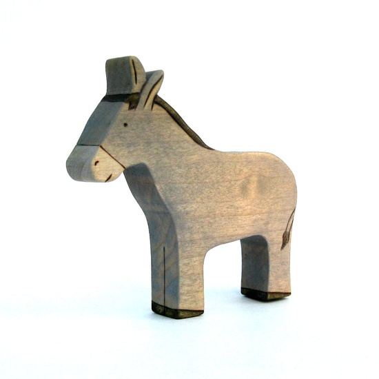 Donkey Toy - Farm Toy - Animal Toy - Wood Toy. $9.00, via Etsy.
