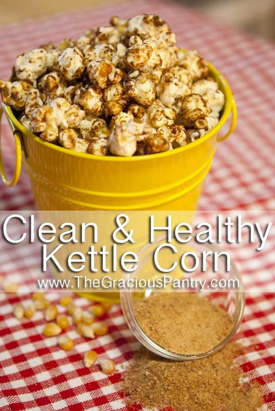 Clean Eating Kettle Corn  #cleaneating #cleaneatingrecipes #eatclean #healthyrecipes #recipes #dessert #dessertrecipes