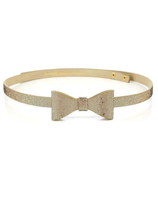 glitter bow belt