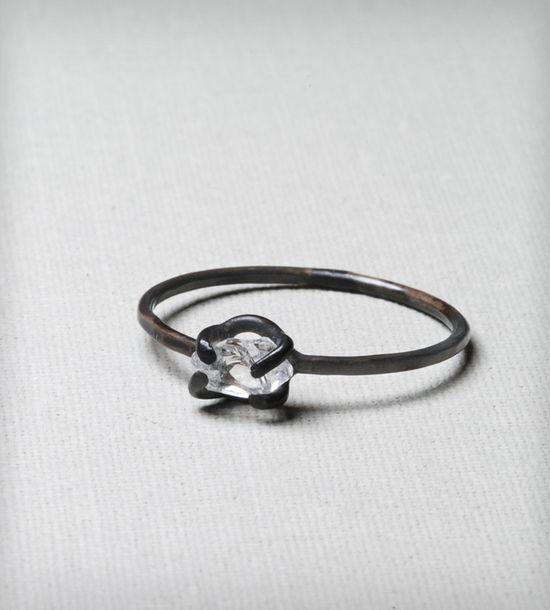 Arduous Black Diamond Ring