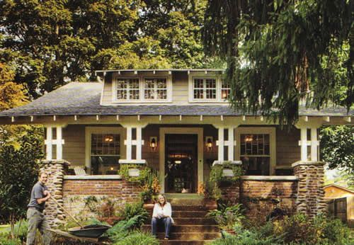 Craftsman Bungalow (a scan from Cottage Living).