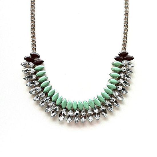 Mint & mushroom necklace