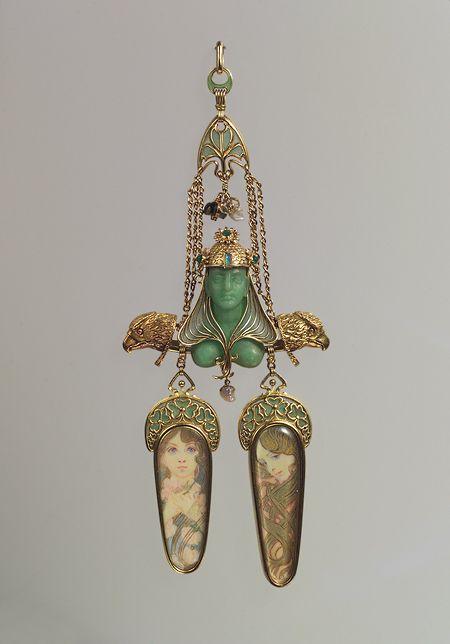 mucha-fouquet brooch, c. 1900