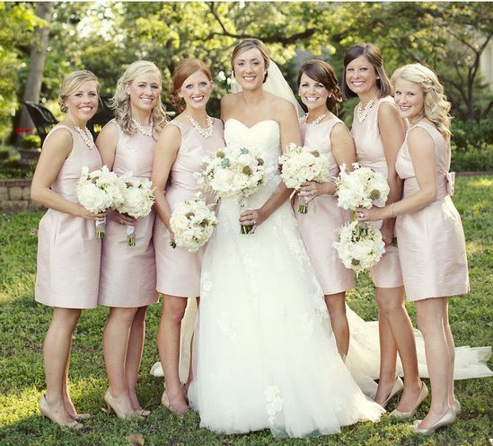 bride and bridesmaids,Country Chic wedding ideas