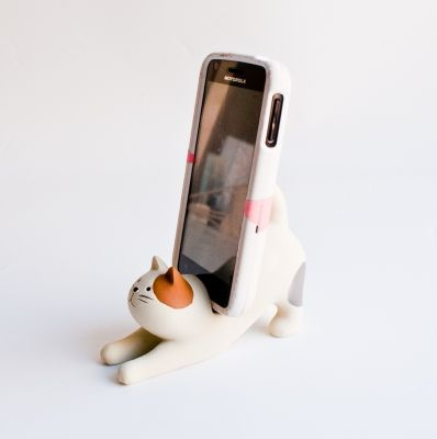 Concombre Cat Cell Phone Stand $18.00 #calico #cat #cute #iphone