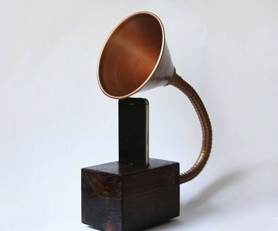 DIY Novelty iPhone Gramophone Speaker