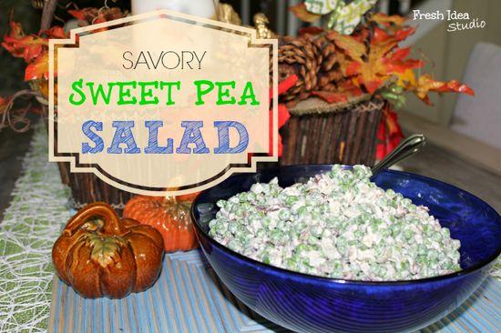 Savory Sweet Pea Salad