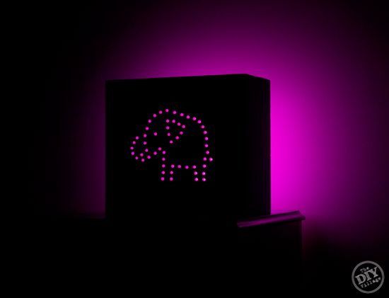 Handmade Gift Idea: Custom LED night light. A perfect addition to a child's room.