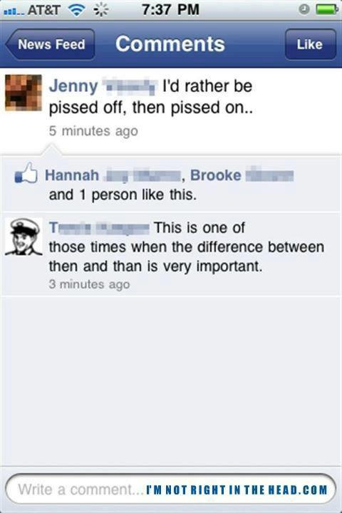 The importance of grammar!