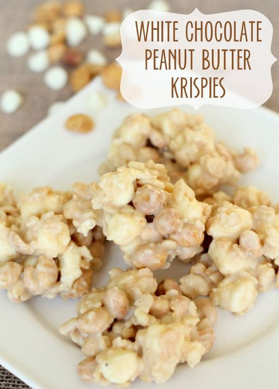 White Chocolate Peanut Butter Krispies... looks easy and delicious!