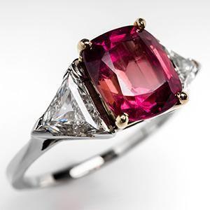 Padparadscha Sapphire Engagement Ring.