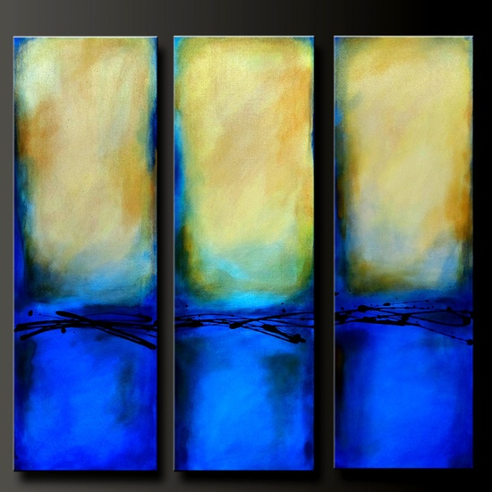 """Abstract contemporary paintings, """"Sing Me The Blues"""".  artist Charlen Williamson"""