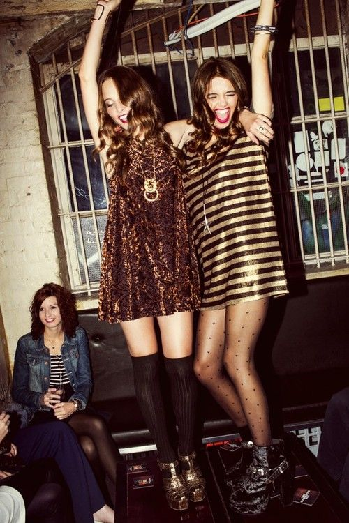 #HUE  mini dresses and tights or over the knee socks #HUEGotTheLook