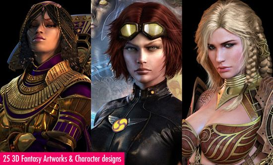 25 Stunning 3D Fantasy Art works and 3D Character designs by Jaegil Lim. Follow us www.pinterest.com...