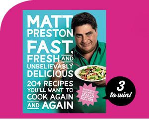 "Enter to win Matt Preston's new cookbook ""Fast, Fresh and Unbelievably Delicious""! **Competition Ends 3 Nov** #competition #contest #giveaway #sweepstakes #cooking #recipes"