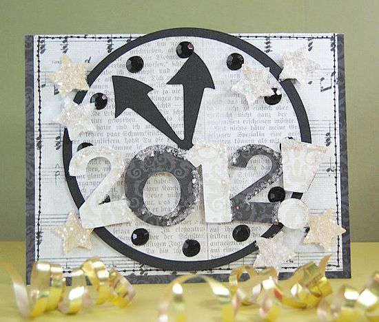 New Year's Eve card made with the #Cricut