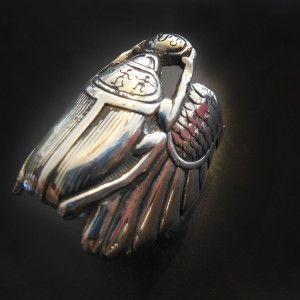 Scarab Beetle Ring in Sterling Silver « SilverBotanica – Handmade Jewelry designed by Alicia Hanson and Hi Octane Industries #handmade bread #handmade fishing lures