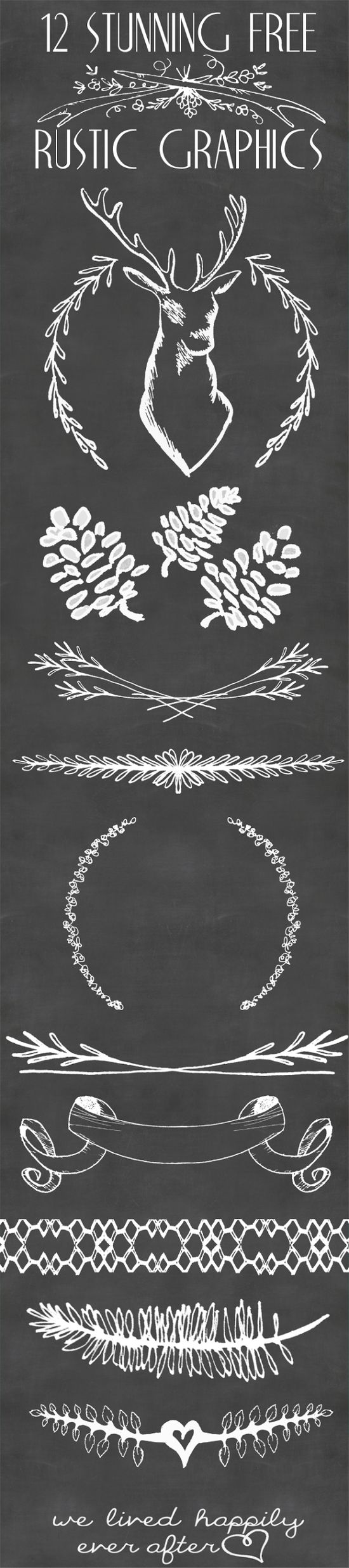 rustic hand drawn graphics