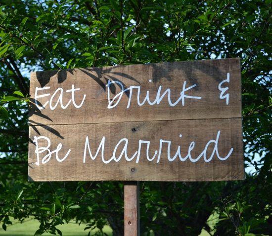 Custom Wedding Sign, Games Wedding Sign, Wood Wedding Sign, Rustic Wedding Sign, Thank You Wedding Sign, Shabby Chic Wedding Sign. $65.00, via Etsy.