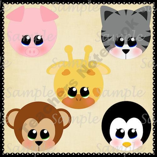 Baby Animal Faces product from MrsRiosPrintables on TeachersNotebook.com