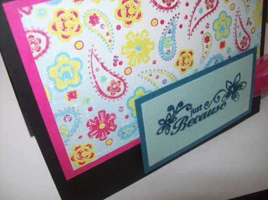 Greeting Card  Just Because Card  Any by SilverCloudDelights, $4.00