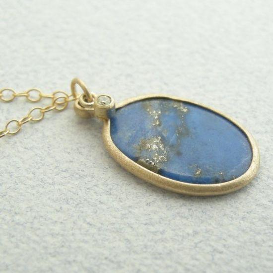 diamond and lapis necklace