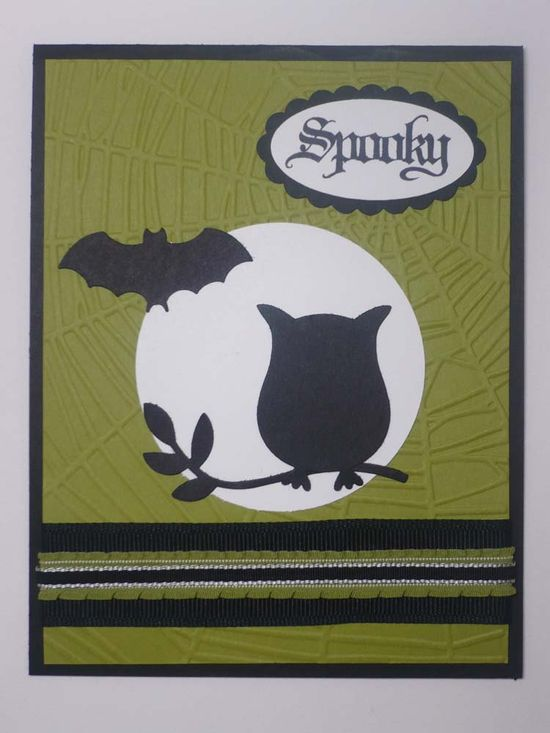 SPOOKY handmade Stampin Up Halloween card.