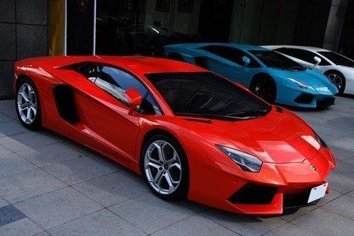 A red sports car...  Enough