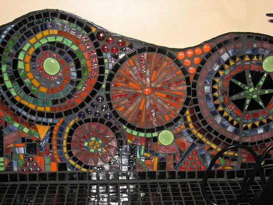 Glass Mosaic Backsplash by leannchristian, via Flickr