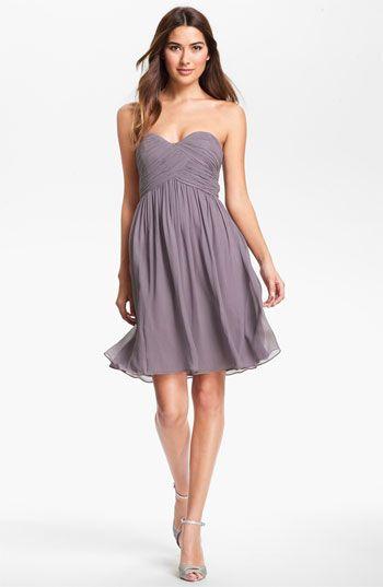 'Morgan' Strapless Silk Chiffon Dress