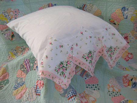 Hankie Pillow Case