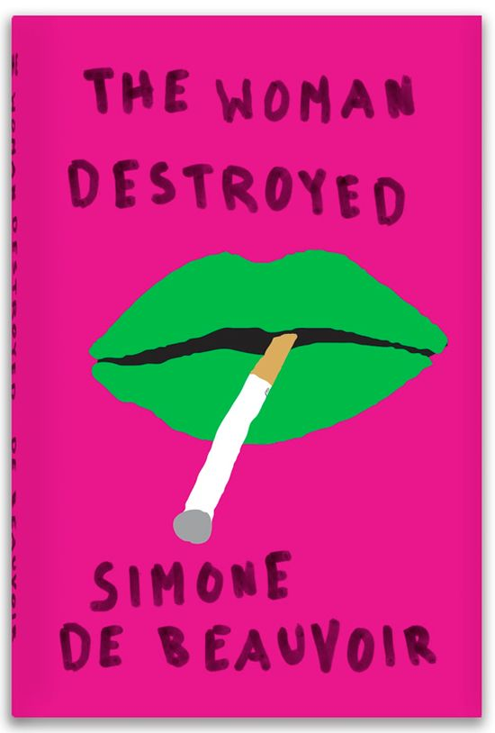 #book #cover by Peter Mendelsund (for one of the three late works by Simone de Beauvoir)
