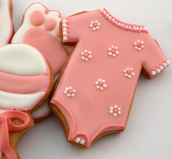 Girl Baby Shower Pinned By: www.cookiecutterc... #baby #shower #decorated #cookie