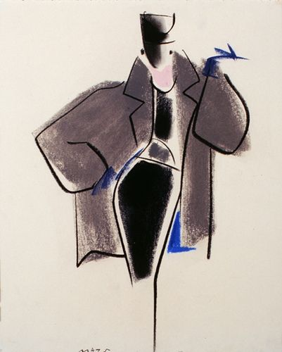 Fashion Illustration by Mats Gustafson (Swedish, 1951) by FIT Library Department of Special Collections, via Flickr