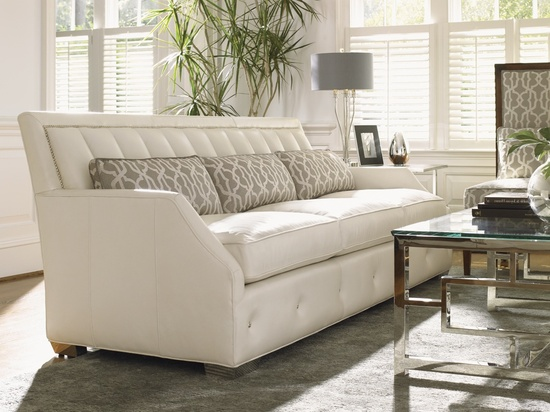Hollywood Luxe White Leather Sofa More Luxury Hollywood Interior Design Inspirations To Pin, Share & Inspire @ InStyle-Decor.com Beverly Hills (Use Our Red Pinterest Speed Pin Button Top Of Each Page Happy Pinning)