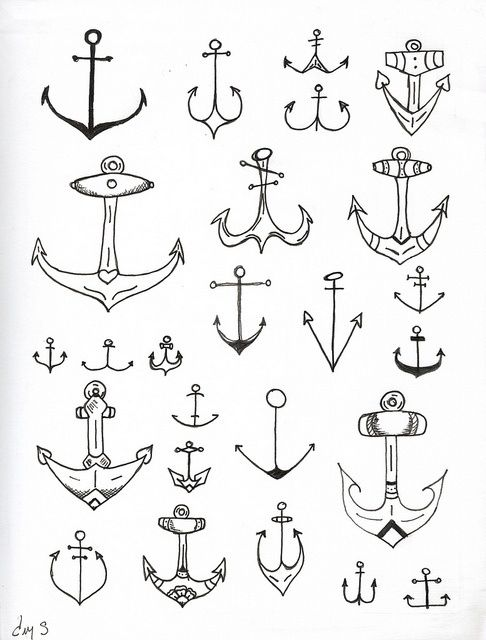 Anchors - tattoo ideas  gonna get me an anchor one day,,,the little one on the middle left