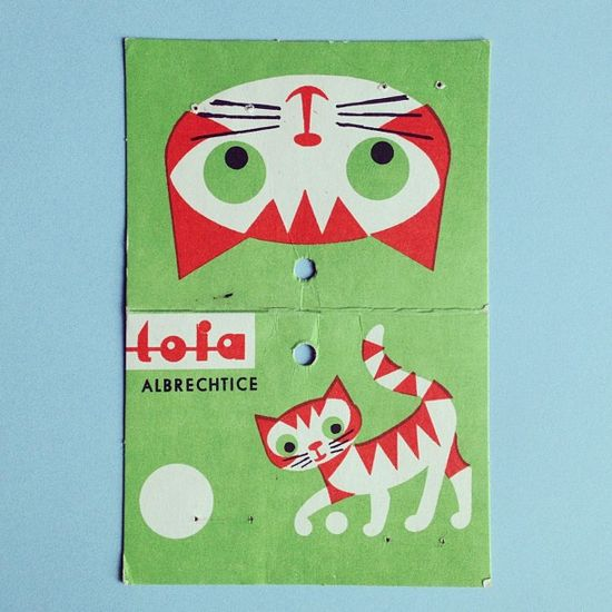Beautifully illustrated cat tag for a vintage bag of beads. Love it!! by Made with love by Cecilie, via Flickr