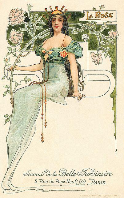 'Rose' ~ French Art Nouveau
