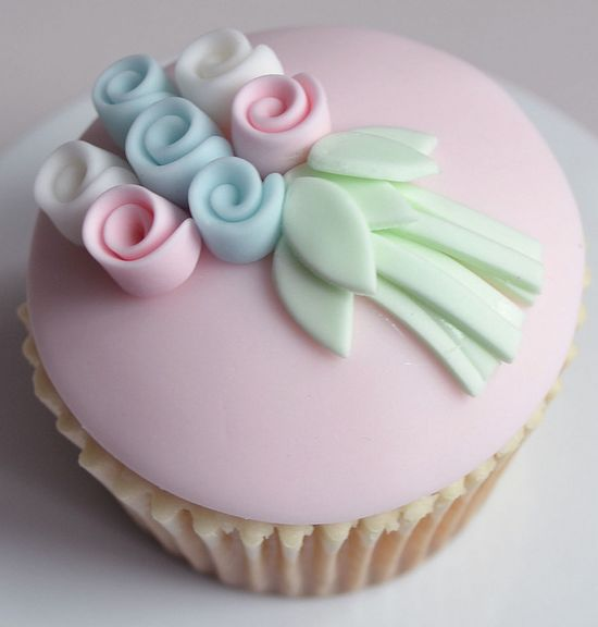 Flower bunch cupcake