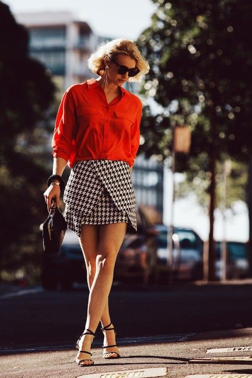 Fall 2013 Trend: Red + black and white = check plus!