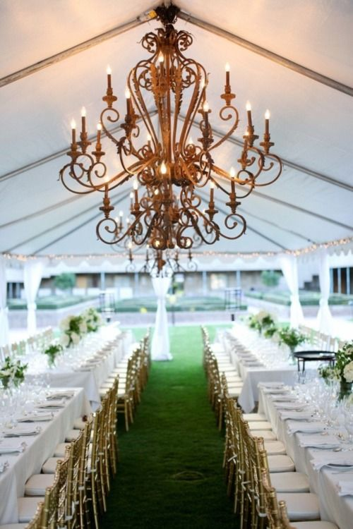Chandeliers at wedding receptions ?