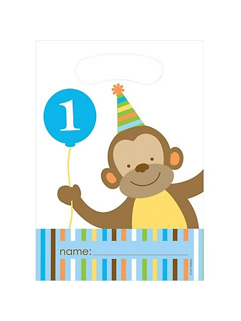 Baby Animals 1st Birthday Boy Loot Bags