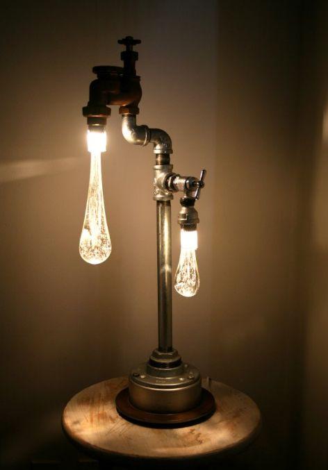 Plumbing fixtures turned into lights!