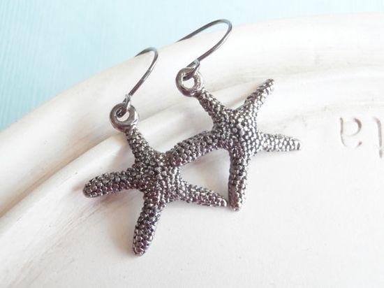 Starfish Earrings by linkeldesigns