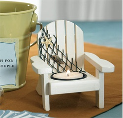 Wooden Deck Chair Candle Holder Favors
