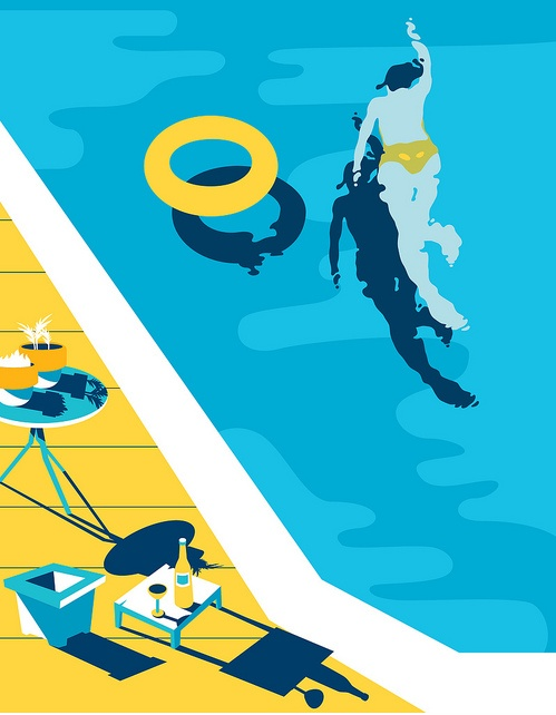 Another day, just breathe. #poolside #swimming #graphic #illustration