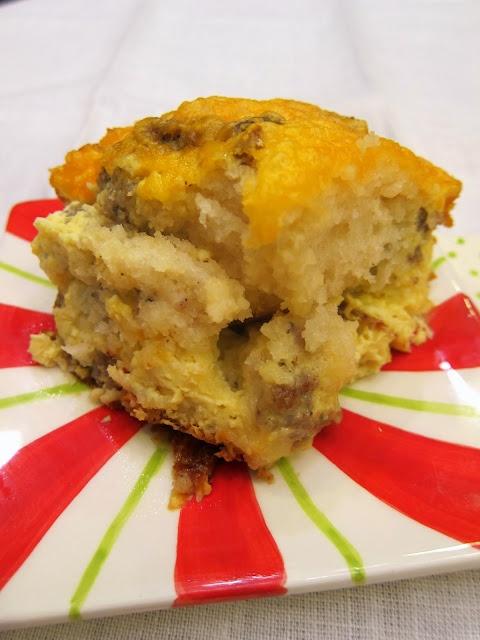 Sausage Egg Biscuit Breakfast Casserole